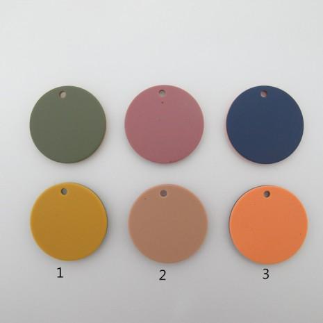 10 Sequins Résine rond 35mm