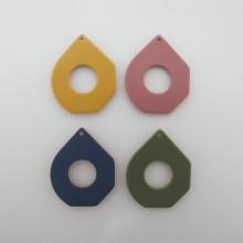 10 Resin Sequins drop shape 42x36mm