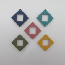 10 Resin Sequins square shape 41x41mm