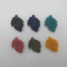 20 Resin Sequins in leaf shape 34x24mm