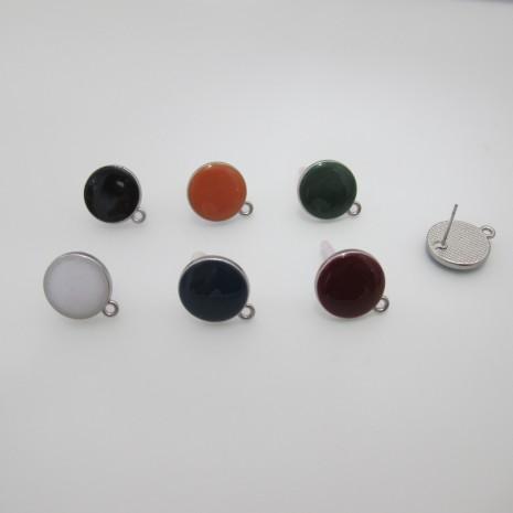 30 Pieces Boucle D'oreille tiges argenté 17x15mm