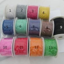 100 mts Lacets Coton cire élastique 1.0mm