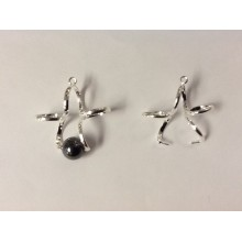 Earring brackets or flower pendants
