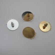 10 pcs tiges avec 5 anneau rond 18 mm