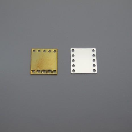 35 Intercalaires  carré 8trou 15x15mm