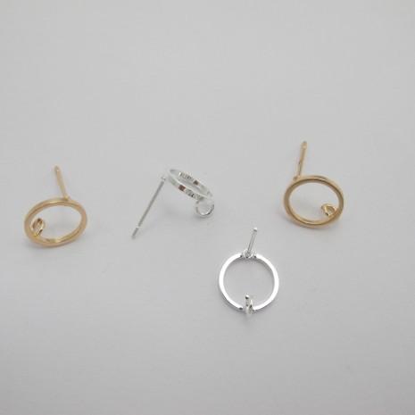 10 pcs tiges avec anneau rond 10mm
