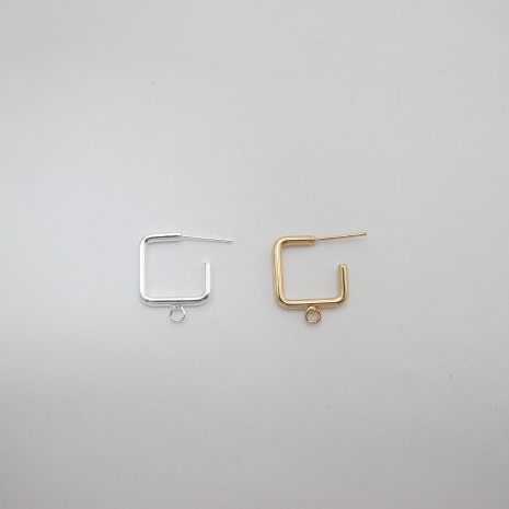 10 pcs tiges avec anneau carré 20x16mm