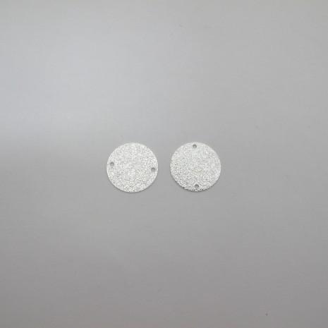 30 Intercalaires 2 trou ronde pailletés 16mm