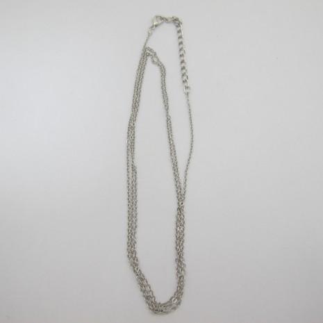 10 chainettes forçat fantaisie metal 75cm