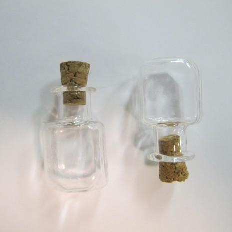 20 Fiole en verre 25x15mm