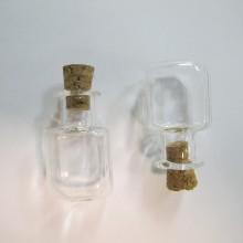 20 Fiole en verre 25x15mm Carré