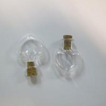 20 Fiole en verre 26x23mm coeur
