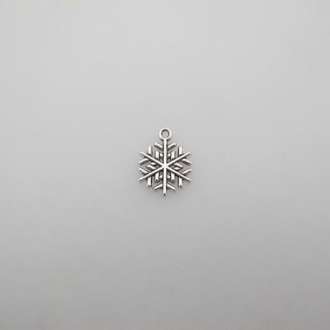 50 pendentifs flocons de neige 20x17mm