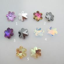 4 pcs Glass Flake Pendants 30mm