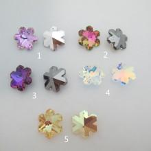 4 pcs pendentifs flocon en verre