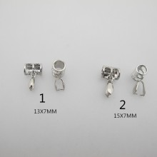 10 Pendants brackets Tubes for cords 6mm