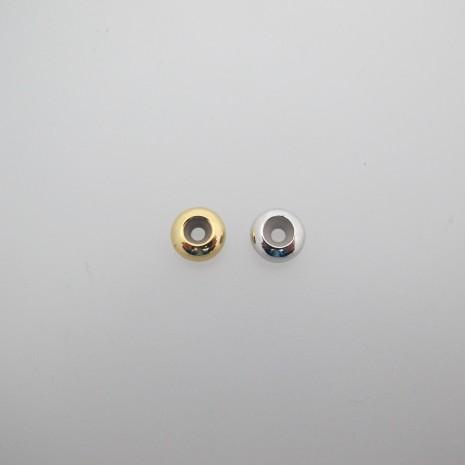20 pcs perles métal 8x4mm avec Caoutchouc à l'intérieur