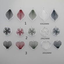 20 pcs Braided wire pendant