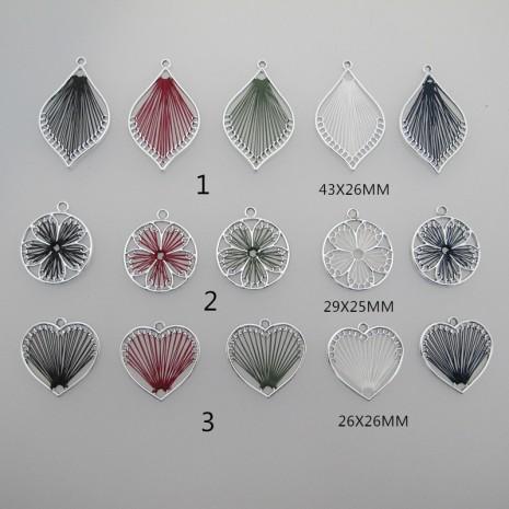 10 pcs pendentif fil tressé