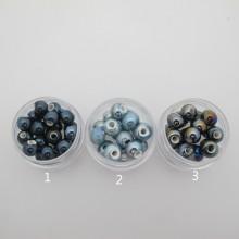 50 Round Ceramic Beads 8mm