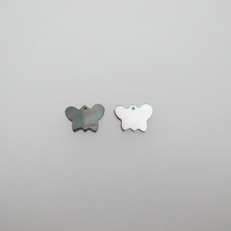 24 Sequins papillon Nacre 14x10mm