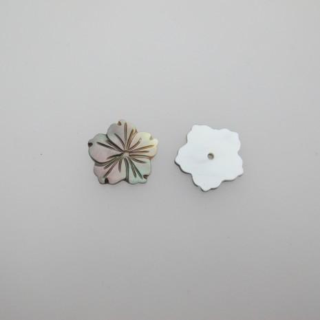 10 fleur nacre 20mm