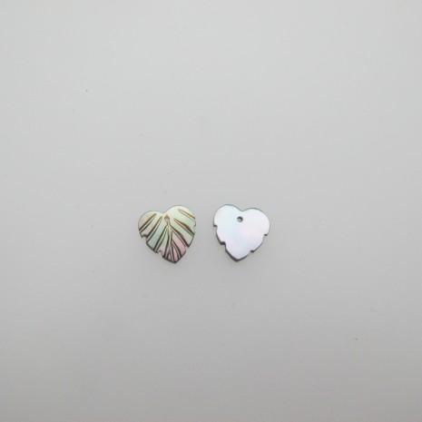 24 Sequins feuilles nacre 12x12mm