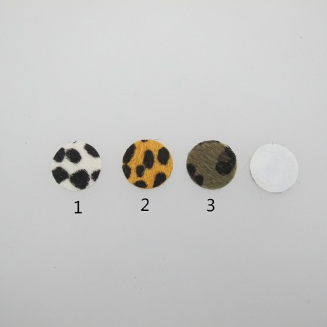 20 cabochon simili-cuir 20mm
