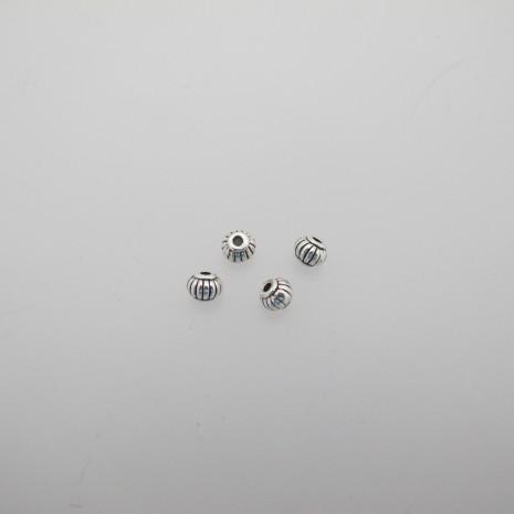 100 perles Métal 5X4mm
