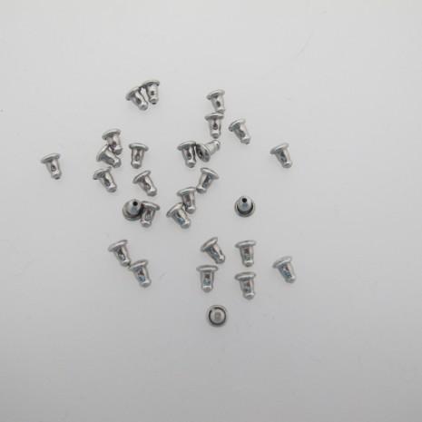 160 pieces Poussoir acier inox 6x4mm
