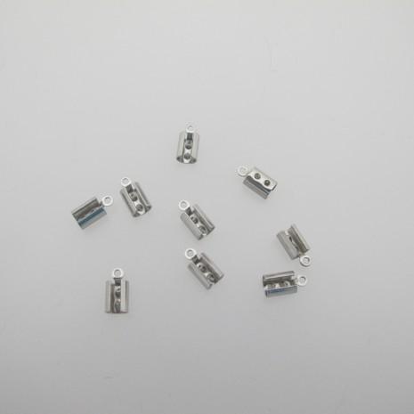 120 Pince lacet pour cordon 4 mm acier inox 11x5mm