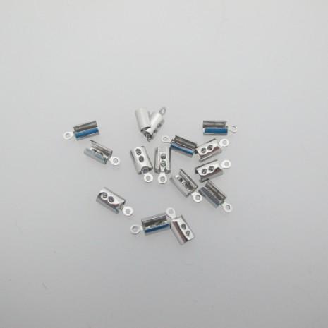 180 Pince lacet pour cordon 3 mm acier inox 9x4mm