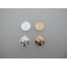 6 pcs Round medallion pendant 18x21mm