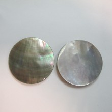 10 Grey mother of pearl 40mm round