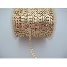 1 mts Square sequin chain 6x4mm