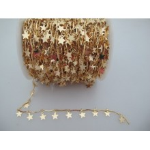 1 mts Star sequin chain 12x7mm