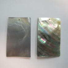 10 Rectangular grey mother of pearl 50x30mm
