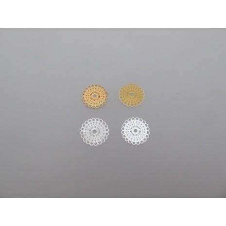 100 estampes filigrane rond 15mm