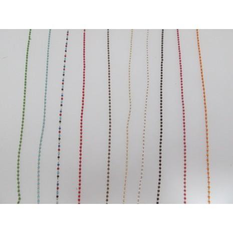 1 mts Chaîne perle tube 2x1.5mm