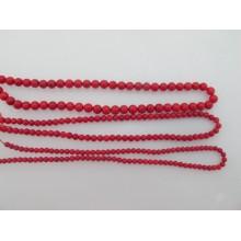 Coral round- 40cm wire