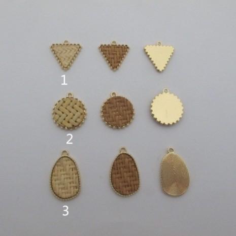 10 pcs pendentif en metàl rotin