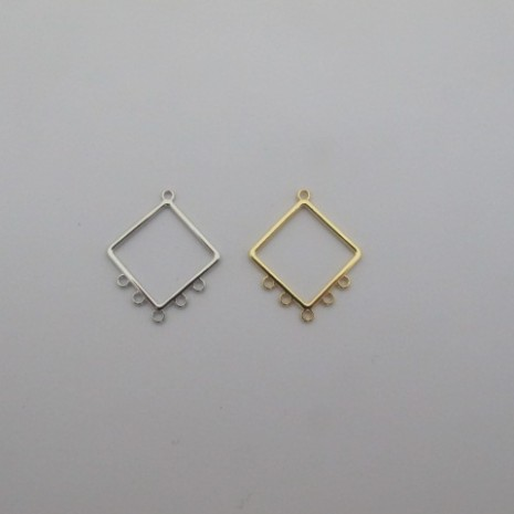 20 Chandeliers carré 5 trou32x27mm