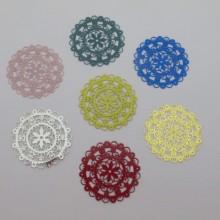 20 Round filigree stamps 40mm
