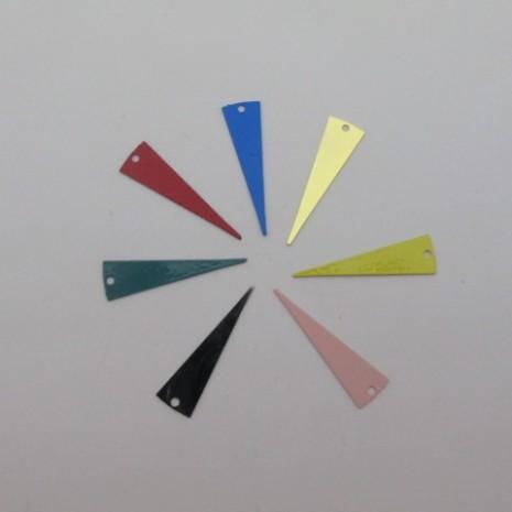 80 estampes filigrane triangle lisse 25x7mm