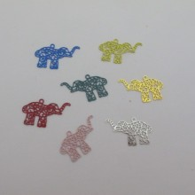 60 Elephant filigree stamps 20x12mm