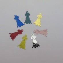 50 Dog filigree stamps 20x11mm