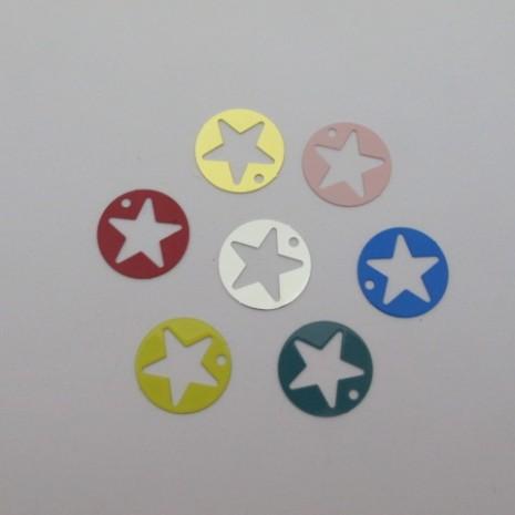 50 estampes filigrane rond étoile 18mm