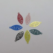 80 filigree stamps shuttle 20x8mm