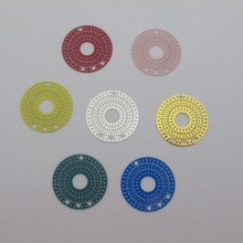 30 Round filigree stamps 3 holes 25mm