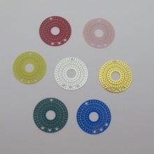 30 Estampes filigrane ronde 3 trous 25mm